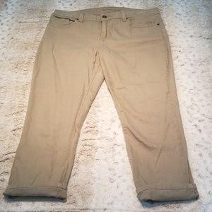 Michael Kors Stretch Khaki Green Skinny Crop Jeans